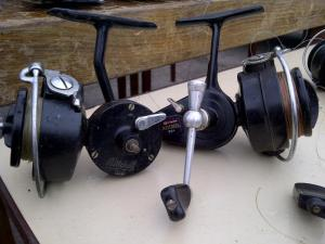 A pair of Mitchell Reels found at Plough Lane, Mitchell 325