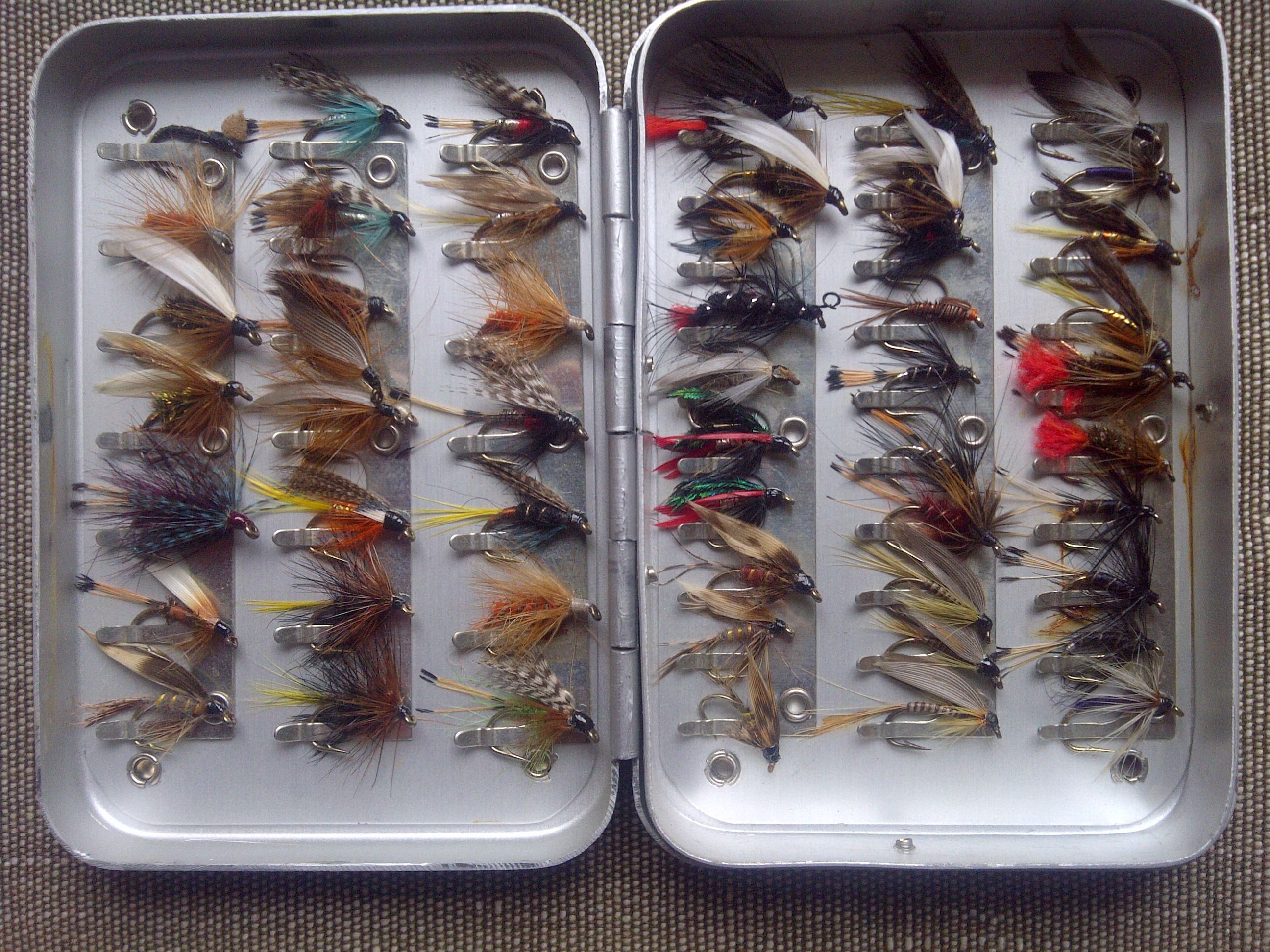 Fly box tales by the riverbank for The fishing fly box