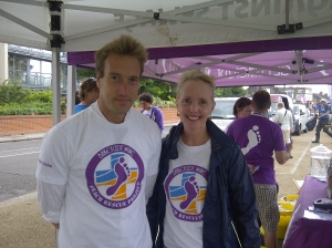 Ben Fogle and one of the helpers for the day