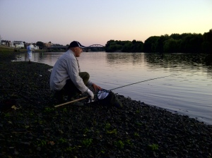 Jeff, ledgering on the Thames
