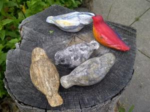 Clay birds by Anon, found in the Queen Elizabeth Roof Top Garden