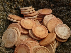 Buried Treasure, gold coins by Anon