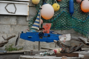 Boat sulpture found in Porthleven