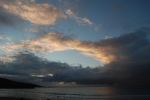 Stormy skies at sunset, St Ives
