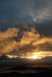 The dawn of a new storm over St Ives, Cornwall - all images copyright of Gary Hazell