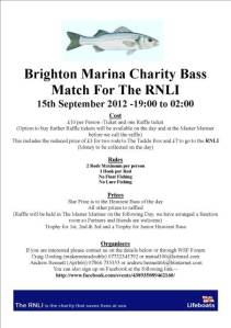 Brightom Marina RNLI Bass Match 2012