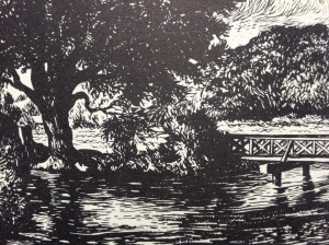 An image from Bernard Venables Angling Waters, that reminded me of the River Chess