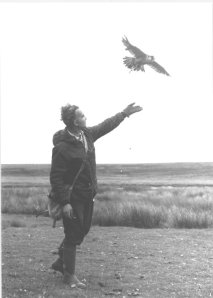 Geoffery Pollard featured with a Brady of Halesowen game bag whilst hunting red-legged grouse in Scotland in the mid 70's.
