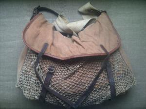A large vinatge Brady of Halesowen bag, ideal for putting you red-legged grouse in.