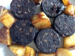 Bury Black Pudding served with saute Bramley apples.