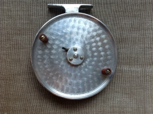 A vintage hand made centre pin reel.