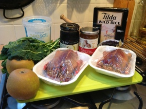 Wood Pigeon recipe ingredients