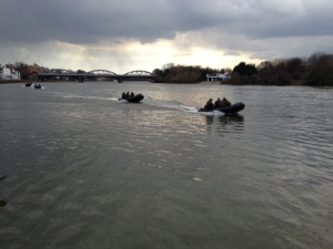 Marines guard the Thames