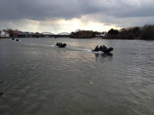 Marines guard the Thames
