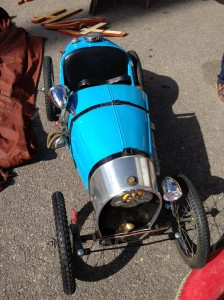 Found at Sunbury Antiques a Type 35 Bugatti pedal car.