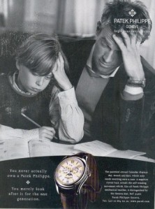 Patek Philippe advert father and son.