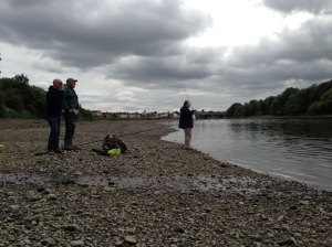 First day of the season at low tide on the Thames