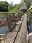 Eel traps over the River Test