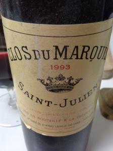 Vintage Clos Du Marquis 1993 Saint-Julien