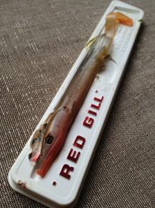 One of the best bass lures a Red Gill by Alex Ingram of Mevagissy Cornwall.