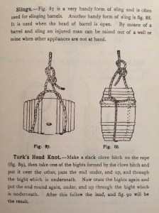 An essential knot for the smuggler.